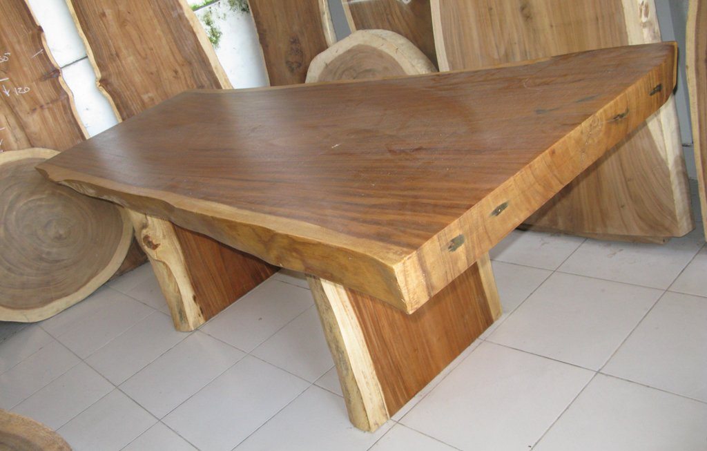 Suar Wood Slab Tables in Stock