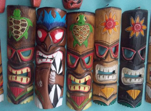 Handmade Albesia Wood Tiki Mask - PLTK-1409 - Wholesale from Bali