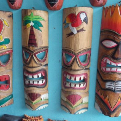 Handmade Albesia Wood Tiki Mask - PLTK-1410 - Wholesale from Bali