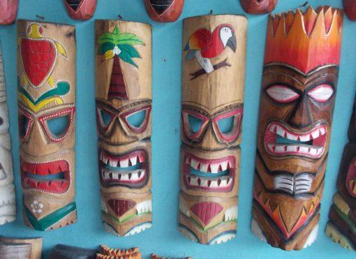 Handmade Albesia Wood Tiki Mask - PLTK-1410 - Wholesale from Bali