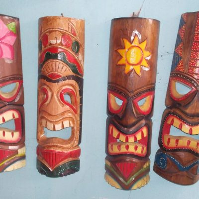Handmade Albesia Wood Tiki Mask - PLTK-1411 - Wholesale from Bali