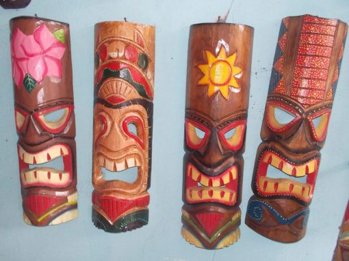 Handmade Albesia Wood Tiki Mask - PLTK-1411 - Wholesale from Bali