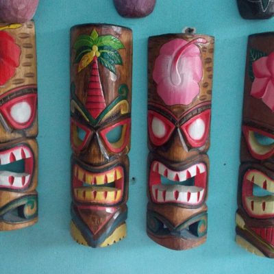 Handmade Albesia Wood Tiki Mask - PLTK-1412 - Wholesale from Bali