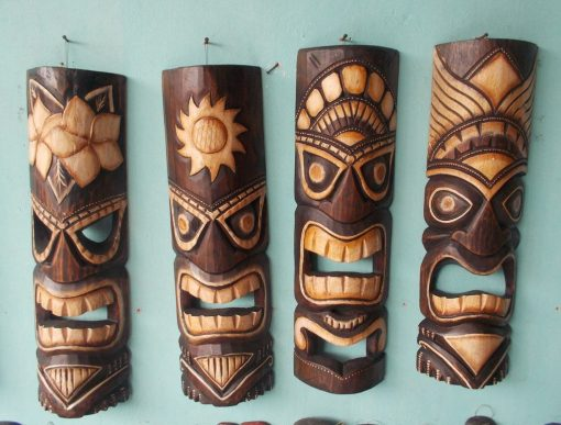Handmade Albesia Wood Tiki Mask - PLTK-1413 - Wholesale from Bali