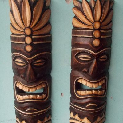 Handmade Albesia Wood Tiki Mask - PLTK-1414 - Wholesale from Bali