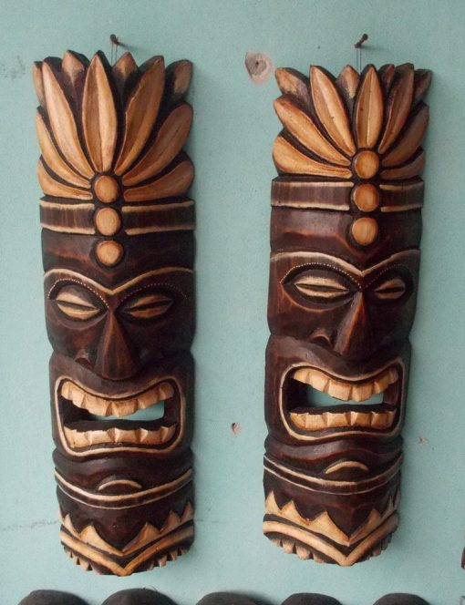 Handmade Albesia Wood Tiki Mask - PLTK-1414 - Wholesale from Bali