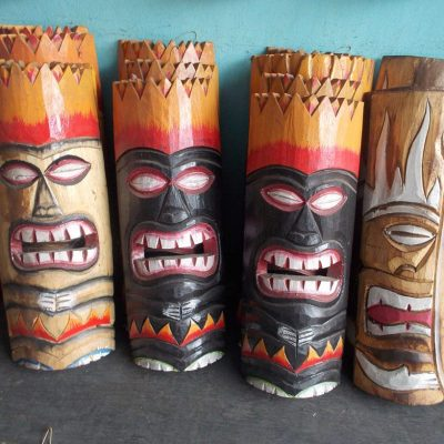 Handmade Albesia Wood Tiki Mask - PLTK-1415 - Wholesale from Bali