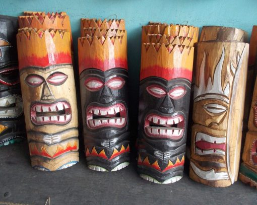 Handmade Albesia Wood Tiki Mask - PLTK-1415 - Wholesale from Bali