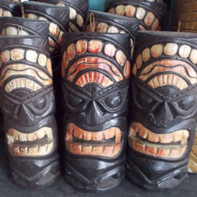 Handmade Albesia Wood Tiki Mask - PLTK-1417 - Wholesale from Bali