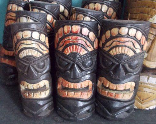 Handmade Albesia Wood Tiki Mask - PLTK-1417 - Wholesale from Bali