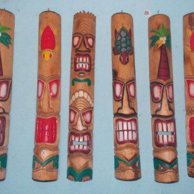 Handmade Albesia Wood Tiki Mask - PLTK-1418 - Wholesale from Bali