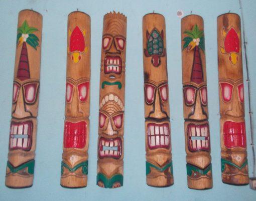 Handmade Albesia Wood Tiki Mask - PLTK-1418 - Wholesale from Bali