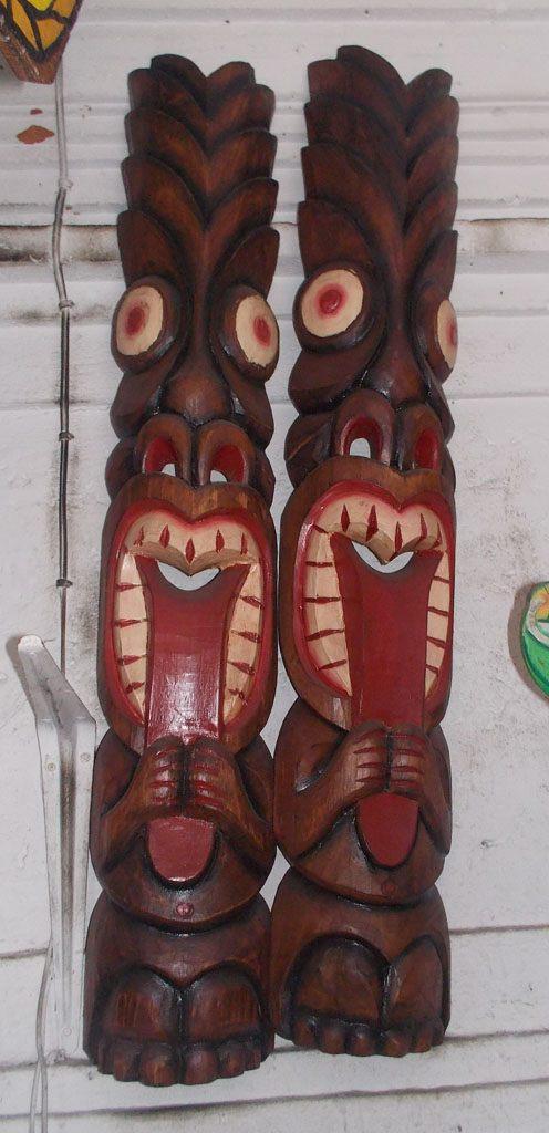 Handmade Albesia Wood Tiki Mask - PLTK-1419 - Wholesale from Bali