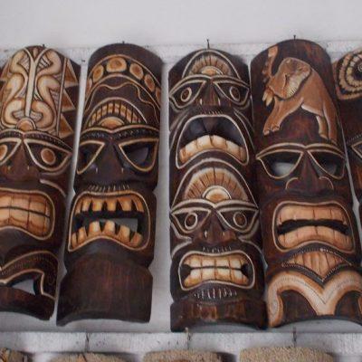Handmade Albesia Wood Tiki Mask - PLTK-1424 - Wholesale from Bali
