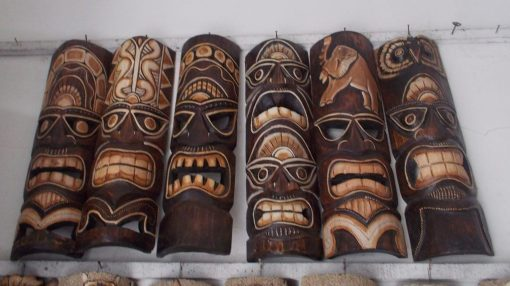 Handmade Albesia Wood Tiki Mask - PLTK-1424 - Wholesale from Bali