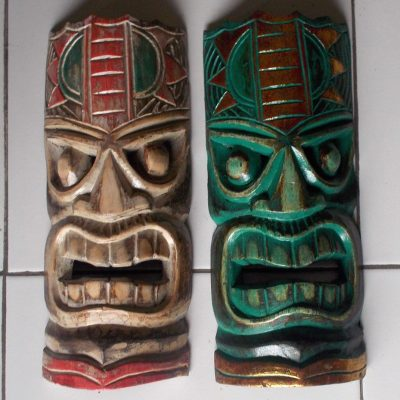 Handmade Albesia Wood Tiki Mask - PLTK-1426 - Wholesale from Bali
