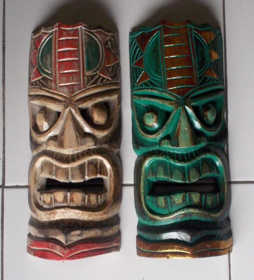 Handmade Albesia Wood Tiki Mask - PLTK-1426 - Wholesale from Bali