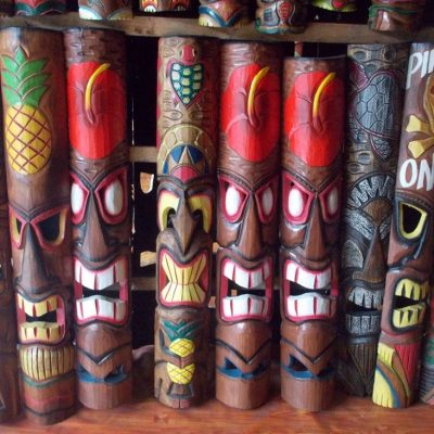 Handmade Albesia Wood Tiki Mask - PLTK-1427 - Wholesale from Bali