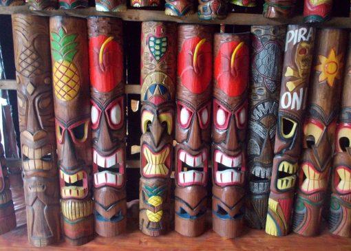 Handmade Albesia Wood Tiki Mask - PLTK-1427 - Wholesale from Bali