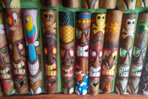 Handmade Albesia Wood Tiki Mask - PLTK-1429 - Wholesale from Bali