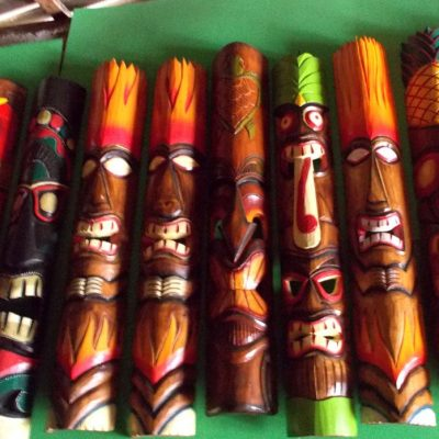 Handmade Albesia Wood Tiki Mask - PLTK-1431 - Wholesale from Bali