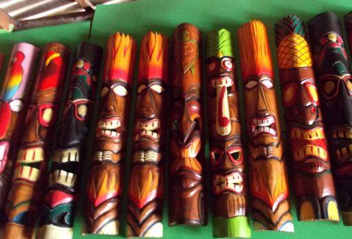 Handmade Albesia Wood Tiki Mask - PLTK-1431 - Wholesale from Bali