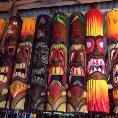 Handmade Albesia Wood Tiki Mask - PLTK-1432 - Wholesale from Bali