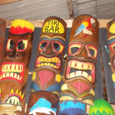Handmade Albesia Wood Tiki Mask - PLTK-1433 - Wholesale from Bali