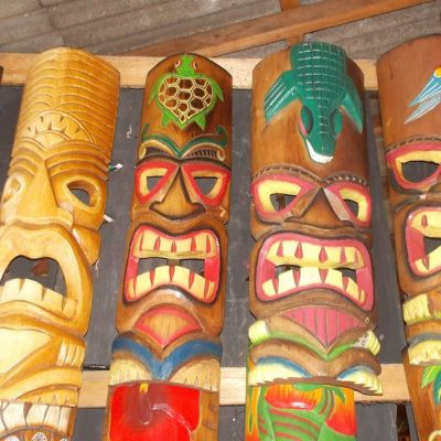 Handmade Albesia Wood Tiki Mask - PLTK-1434 - Wholesale from Bali