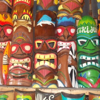 Handmade Albesia Wood Tiki Mask - PLTK-1435 - Wholesale from Bali