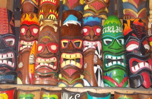 Handmade Albesia Wood Tiki Mask - PLTK-1435 - Wholesale from Bali