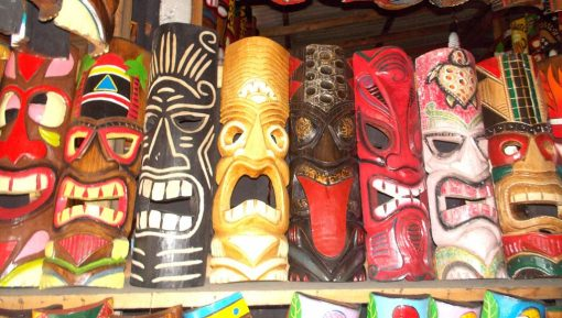 Handmade Albesia Wood Tiki Mask - PLTK-1436 - Wholesale from Bali