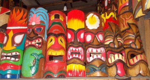 Handmade Albesia Wood Tiki Mask - PLTK-1437 - Wholesale from Bali