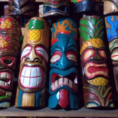 Handmade Albesia Wood Tiki Mask - PLTK-1438 - Wholesale from Bali