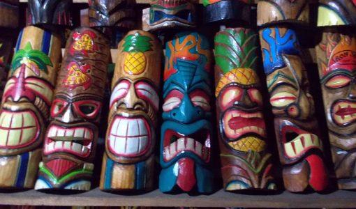 Handmade Albesia Wood Tiki Mask - PLTK-1438 - Wholesale from Bali