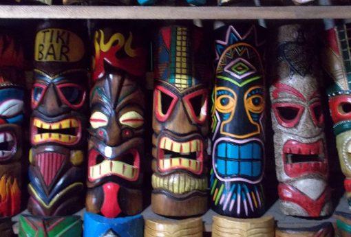 Handmade Albesia Wood Tiki Mask - PLTK-1439 - Wholesale from Bali