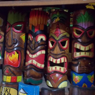 Handmade Albesia Wood Tiki Mask - PLTK-1440 - Wholesale from Bali