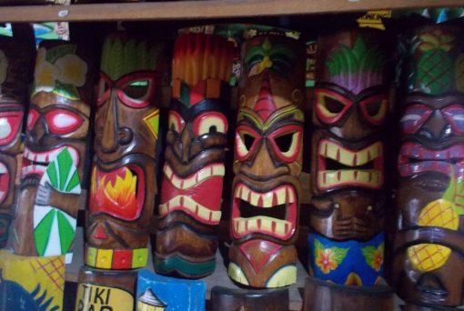 Handmade Albesia Wood Tiki Mask - PLTK-1440 - Wholesale from Bali