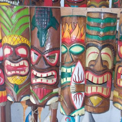 Handmade Albesia Wood Tiki Mask - PLTK-1441 - Wholesale from Bali