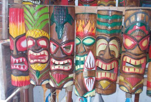 Handmade Albesia Wood Tiki Mask - PLTK-1441 - Wholesale from Bali