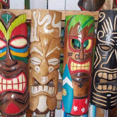 Handmade Albesia Wood Tiki Mask - PLTK-1442 - Wholesale from Bali
