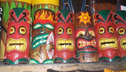 Handmade Albesia Wood Tiki Mask - PLTK-1444 - Wholesale from Bali