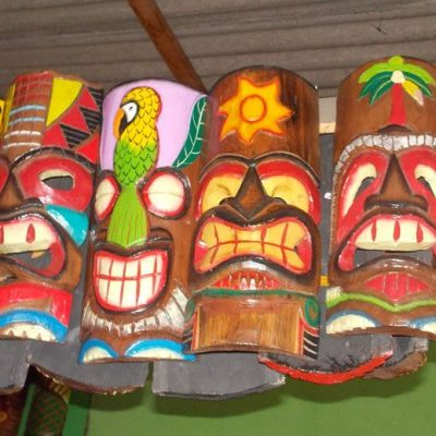 Handmade Albesia Wood Tiki Mask - PLTK-1445 - Wholesale from Bali