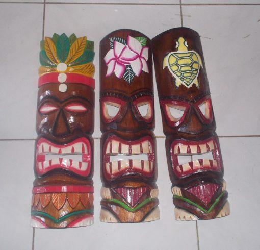 Handmade Albesia Wood Tiki Mask - PLTK-1446 - Wholesale from Bali