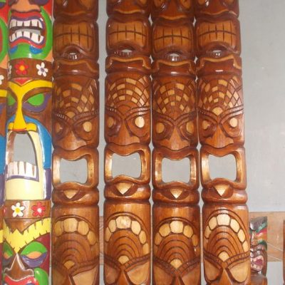 Handmade Albesia Wood Tiki Mask - PLTK-1448 - Wholesale from Bali