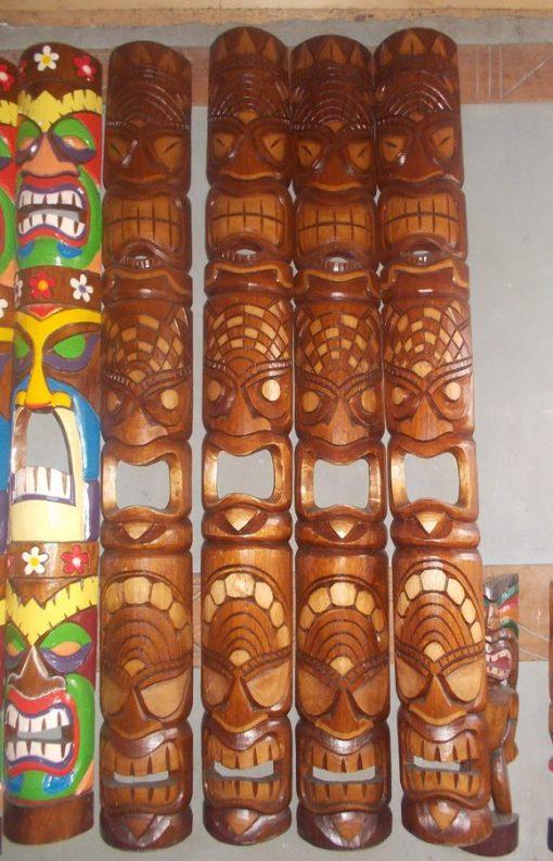 Handmade Albesia Wood Tiki Mask - PLTK-1448 - Wholesale from Bali