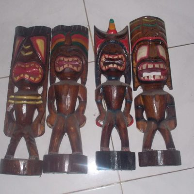 Handmade Albesia Wood Tiki Mask - PLTK-1450 - Wholesale from Bali