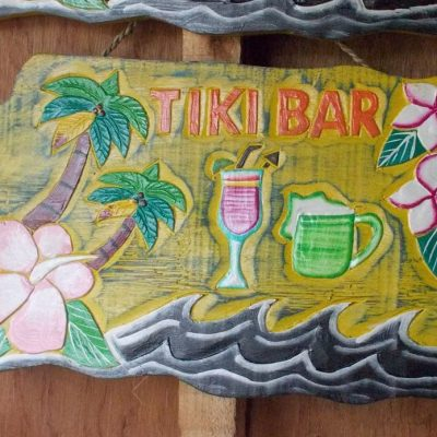 Handmade Albesia Wood Tiki Mask - PLTK-1497 - Wholesale from Bali