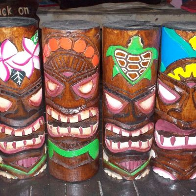 Handmade Albesia Wood Tiki Mask - PLTK-1499 - Wholesale from Bali