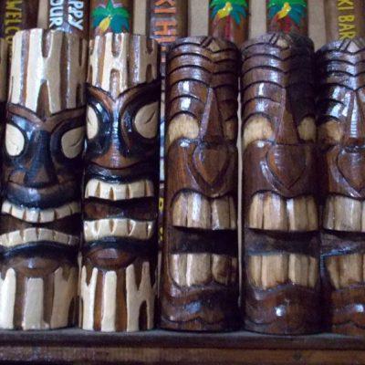 Handmade Albesia Wood Tiki Mask - PLTK-1500 - Wholesale from Bali